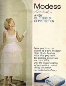 anúncio antigo de absorvente modess