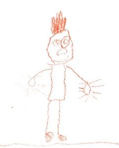 desenho de criança de boneco sorrindo