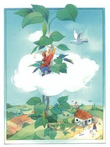 ilustração de João e o pé de feijão