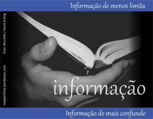 Informação de menos limita; informação de mais confunde.