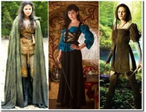 Brancas de Neve guerreiras: Once upon a time, Espelho espelho meu e Branca de Neve e o caçador
