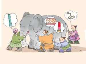 Os cegos apalpando o elefante