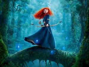 Princesa Merida com arco e flecha