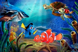Marlin, Nemo, Dory no fundo do mar