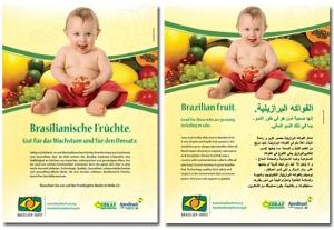 campanha para promoção de frutas brasileiras no exterior