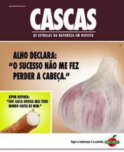 anúncio publicitário Revista Cascas alho hortifruti