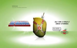 anúncio publicitário He manga Hortifruti