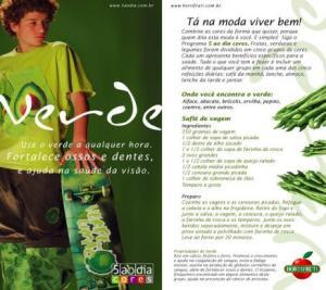 A moda é usar verde anúncio da Hortifruti