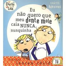 capa de livro Charlie e Lola dentes de leite