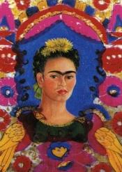 pintura de Frida Kahlo com flores