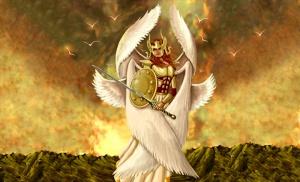 anjo guerreiro com seis asas