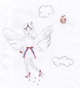 desenho de criança com anja