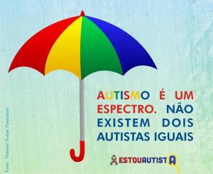 guarda-chuva colorido. Espectro autista