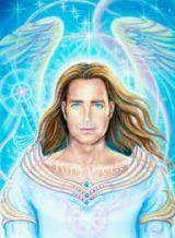 anjo da guarda com cabelos compridos